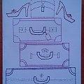 Obrazki z szycia wzięte - haft matematyczny #ObrazkiZSzyciaWzięte #HaftMatematyczny #podróże #walizki #buty