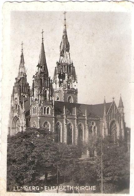 Lwów , kościół św. Elżbiety, 1941 lub 1942 r.