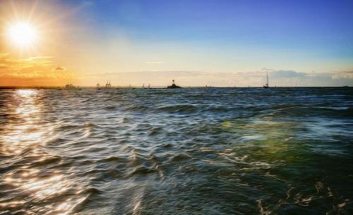 w zatoce Gdańskiej #Morze #słońce #zatoka #żaglówka