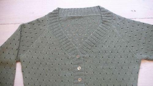 zbliżenie sweterka #BabyAlpakaSilk #druty