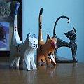 figurki kotów #drewniane #figurki #kot #kotów #ZBrązu
