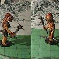 D&D Figurki #Ettin #Dragons #Dungeons #Figurki #Handmade #Lochy #miniatures #Ręczne #Smoki